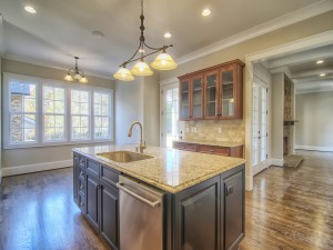 Avery Court kitchen island and window